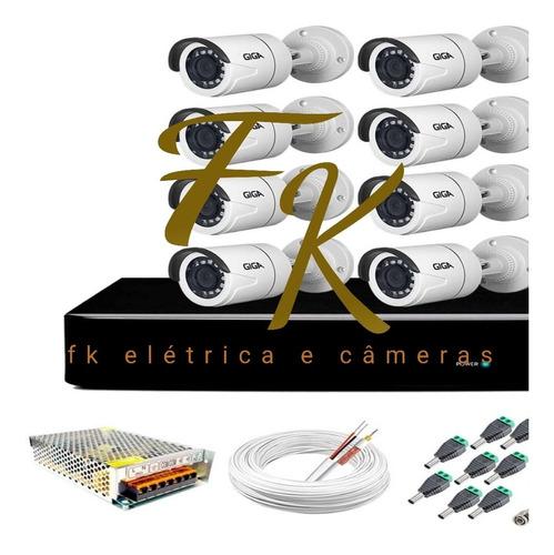 kit de câmeras 8 ch giga ou hakivisiom