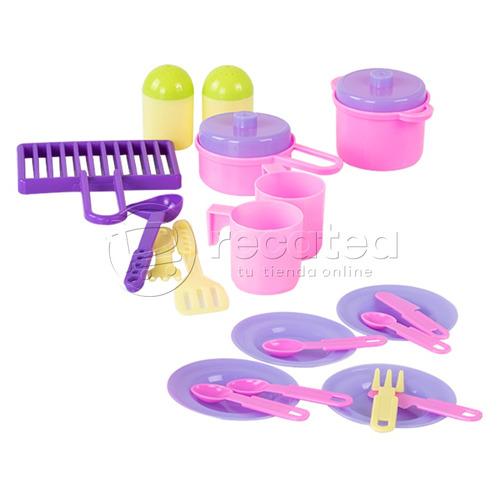 kit de cocina y ollas iinfantil vamos de picnic para niñas