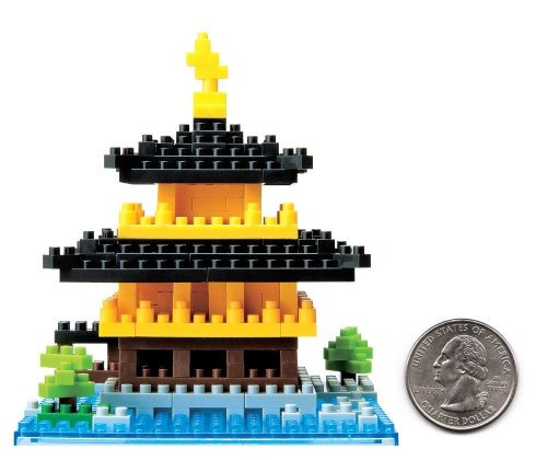 kit de construcción de templo kinkakuji nanoblock