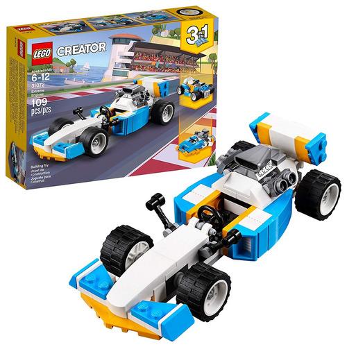 kit de construcción lego creator 31073 máquinas extremas