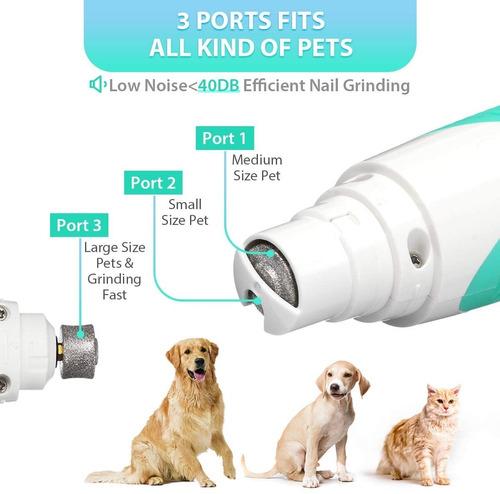 kit de corta uñas para mascotas portátil y recargable