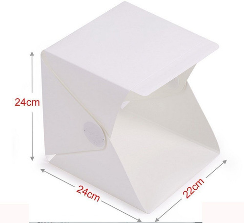 kit de cubo estudio fotográfico de 9in con iluminación leds