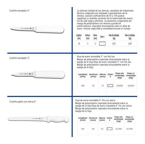 kit de cuchillos estudiantes y chef estuche tramontina 10 pc