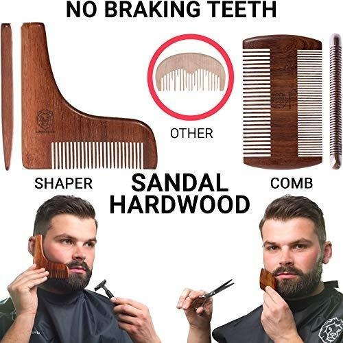 kit de cuidado de barba para hombre set de regalo crecimient