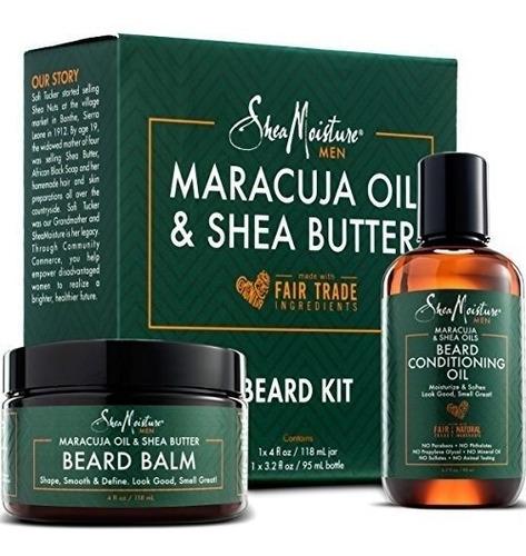 kit de cultivo de aceite y balsamo para barba de shea para h