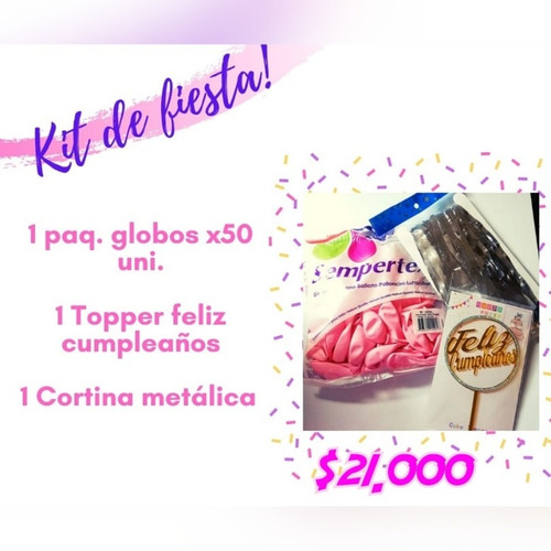 kit de decoración, celebra en casa