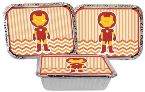 kit de decoração infantil homem de ferro baby 160 peças