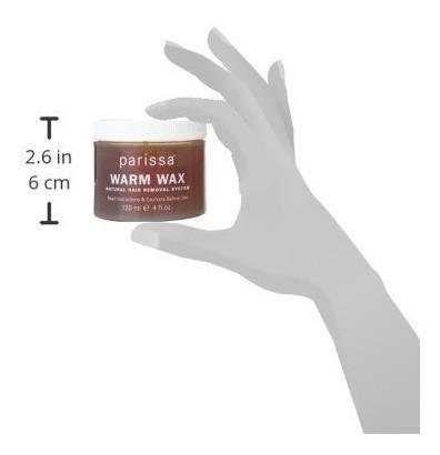 kit de depilación con cera depilación parissa warm wax, resi