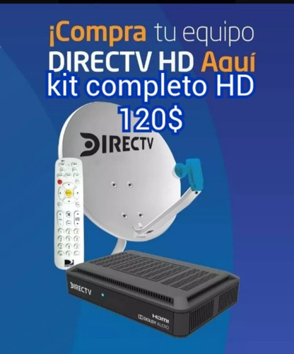 kit  de directv prepago decodificador venezolano (85 verdes)