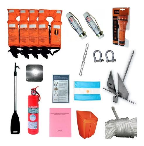 kit de elementos de seguridad nauticos (no envios)