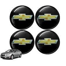 kit de emblema gm resinado ( 04 unidades )p/ calotas e rodas