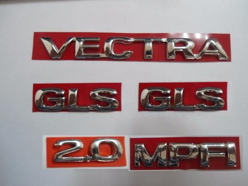 kit de emblema p/ vectra + 2 gls + 2.0 + mpfi 96/... - bre