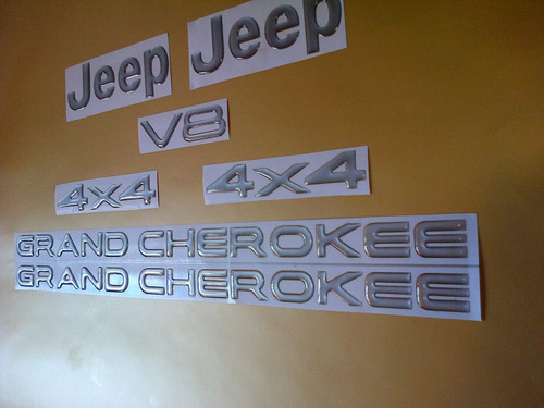 kit de emblemas para jeep grand cherokee