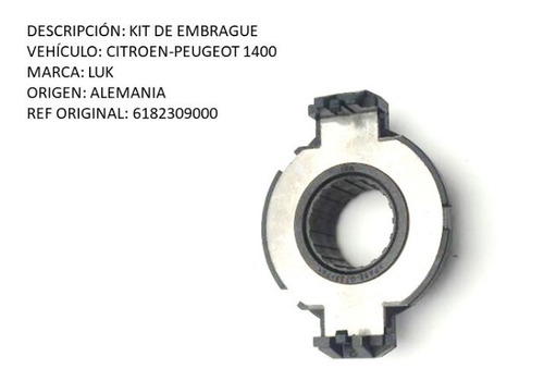 kit de embrague citroen-peugeot 1400