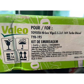Kit De Embreagem Hilux 2.5 / 3.0 16v Valeo
