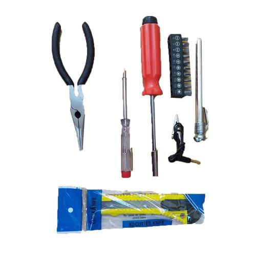 kit de emergencia multiuso 30 piezas destornillador linterna