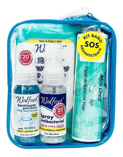 kit de emergencia para baño 4 pz