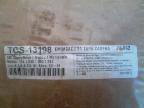 kit de empacadura tapa cadena chevrolet 194/230/250/292