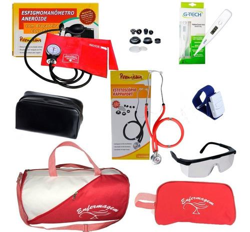 kit de enfermagem estetoscópio duplo c/ nota - top