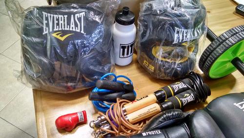 kit de entrenamiento de boxeo everlast unico!!!
