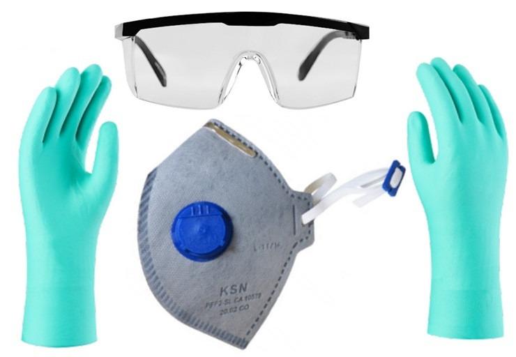 ba7cbea366e4e Kit De Epi Proteção Quimica