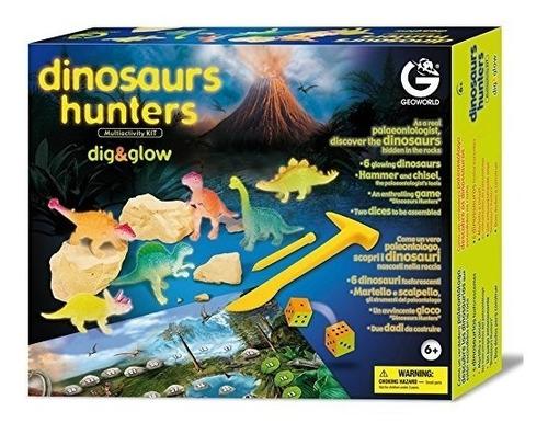 kit de escavação dinossauro dig&glow geoworld 9029