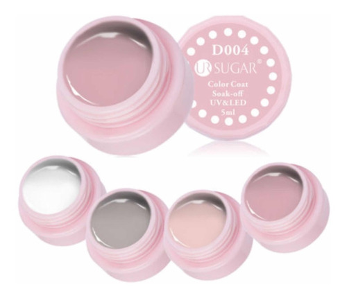 kit de esmalte permanente para uñas, 4 envases de 5 ml c/u