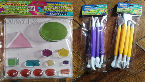 kit de estiletes para moldear, dosificador y foamy moldeable
