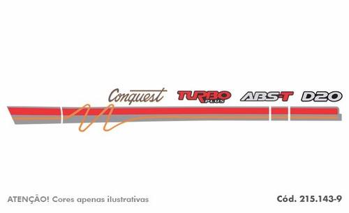 kit de faixa decorativa adesivo chevrolet d20 96 conquest