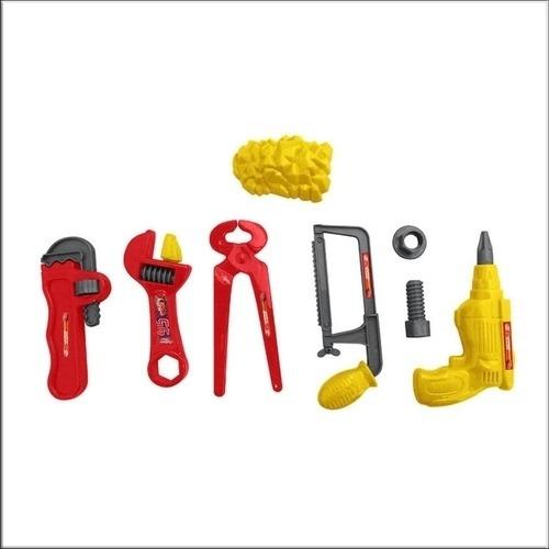 kit de ferramentas com 8 peças furadeira alicate meninos
