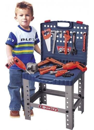 kit de ferramentas infantil c/ bancada furadeira e furadeira