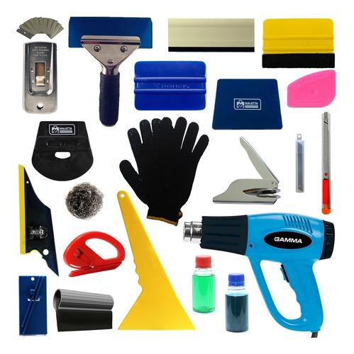 kit de ferramentas para aplicação de insulfilme e chancela