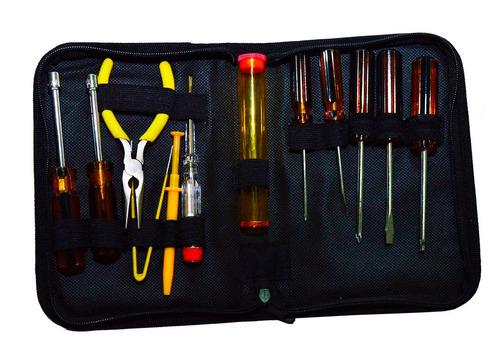 kit de ferramentas para informática com 13 peças com estojo