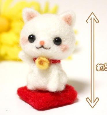 kit de fieltro conejito o gatito vellon + agujas + tutorial