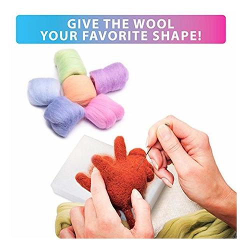kit de fieltro de aguja  juego de  colores de lana itin...