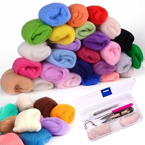 kit de fieltro de aguja zealor 36 colores fieltro de lana co