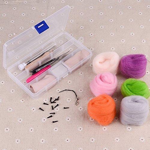 kit de fieltro de aguja, zealor 36 colores juego de lana de