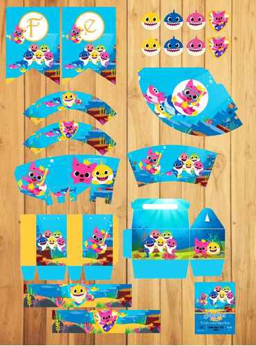 kit de fiesta baby shark imprimible digital