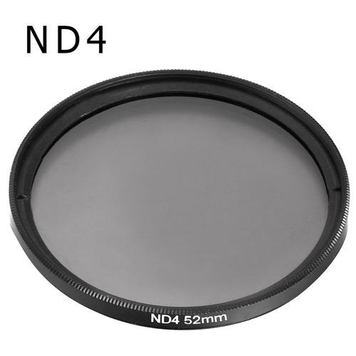 kit de filtro nd2 + nd4 + nd8 + case 55mm nikon sony alpha