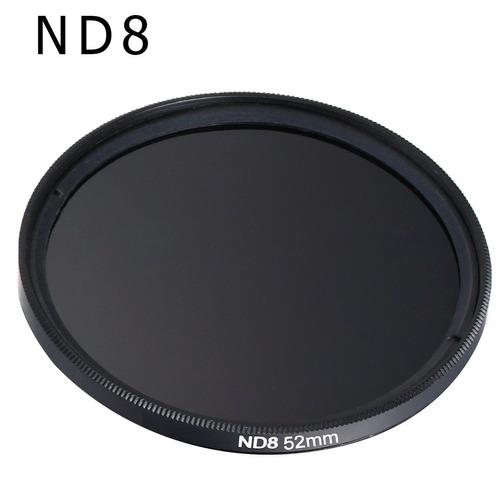 kit de filtro nd2 + nd4 + nd8 + case 58mm canon nikon fuji