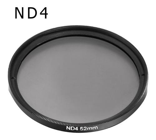kit de filtro nd2 + nd4 + nd8 + case 58mm canon nikon sony