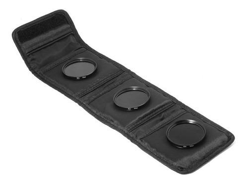 kit de filtro nd2 + nd4 + nd8 + case 72mm canon nikon sony