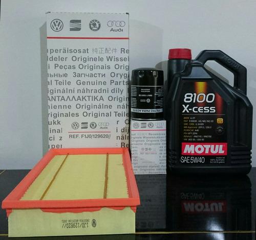 kit de filtros aceite+aire+motul 8100 bora 1.8t 2.0 nafta