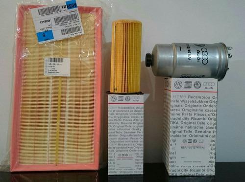 kit de filtros aire+aceite+gasoil bora tdi turbo diésel