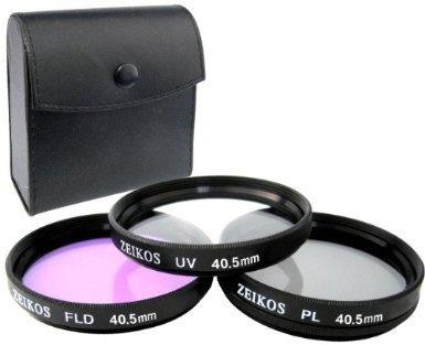 kit de filtros uv cpl fld 40.5mm para camara samsung nx maa