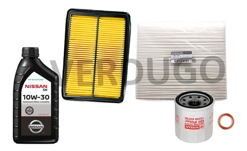 kit de filtros y aceite nissan kicks- original