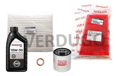 kit de filtros y aceite nissan versa - original