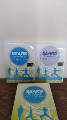 kit de fitness sears me entiende + cinta métrica+ cd +dvd