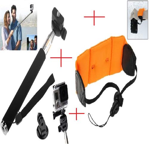 kit de flutuadores flutuador gopro hero acessórios go pro