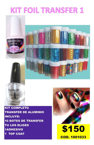 kit de foil transfer para uñas 1
